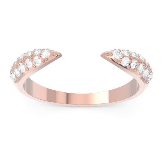 Modern Open Pave Sandamza Diamond Ring in 14K Rose Gold