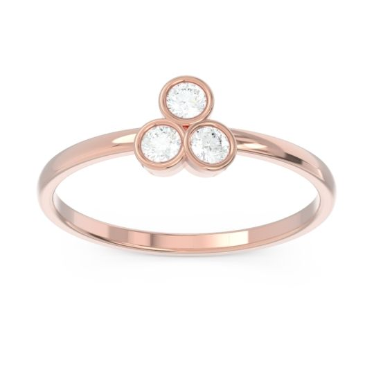 Petite Modern Bezel Zikharin Diamond Ring in 14K Rose Gold