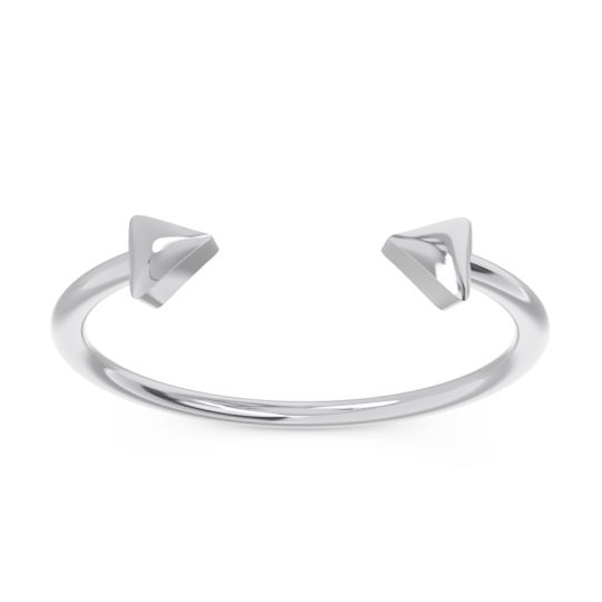 Petite Modern All-Metal Dezana Ring
