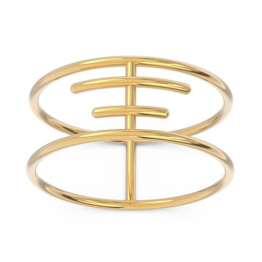 Petite Modern Double Line All-Metal Rekhita Ring