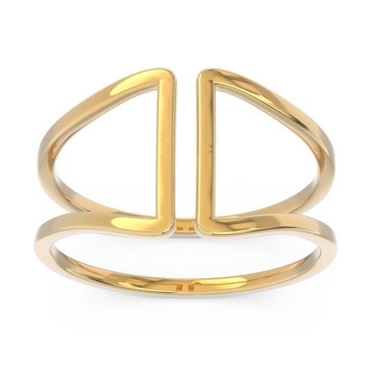 Petite Modern Double Line All-Metal Avapa Ring