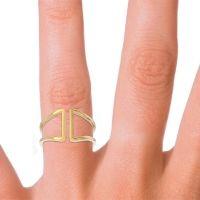 Petite Modern Double Line All-Metal Avapa Ring