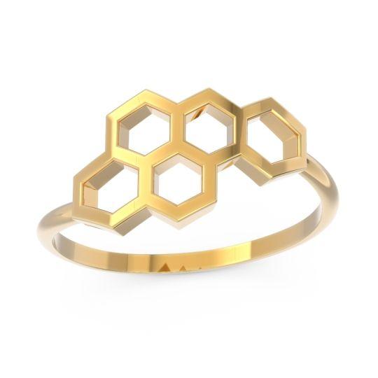 Modern All-Metal Bypass Maksika Ring