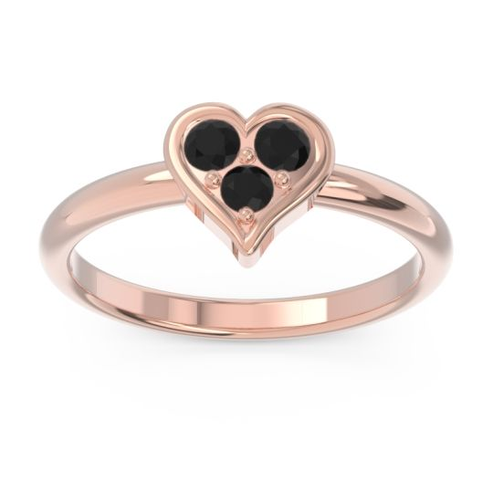 Petite Modern Patve Manahputa Black Onyx Ring in 14K Rose Gold