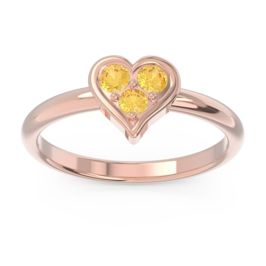Petite Modern Patve Manahputa Citrine Ring in 14K Rose Gold