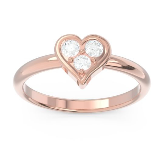 Petite Modern Patve Manahputa Diamond Ring in 14K Rose Gold