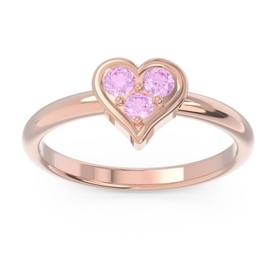 Petite Modern Patve Manahputa Pink Tourmaline Ring in 14K Rose Gold
