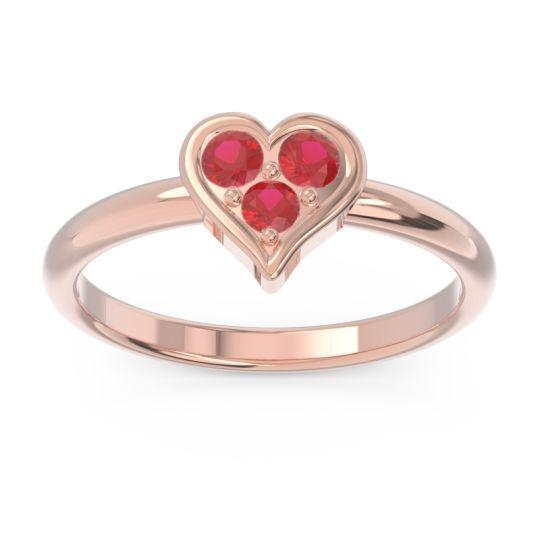 Petite Modern Patve Manahputa Ruby Ring in 14K Rose Gold