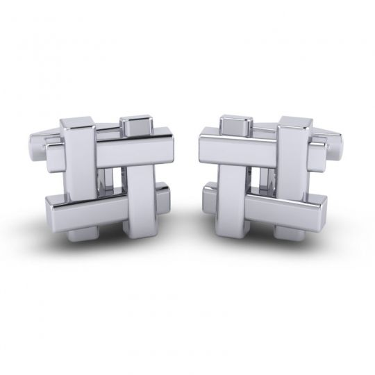 Tanoti White Gold Cufflinks