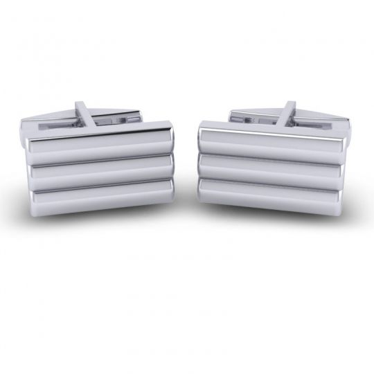 Bhandi White Gold Cufflinks