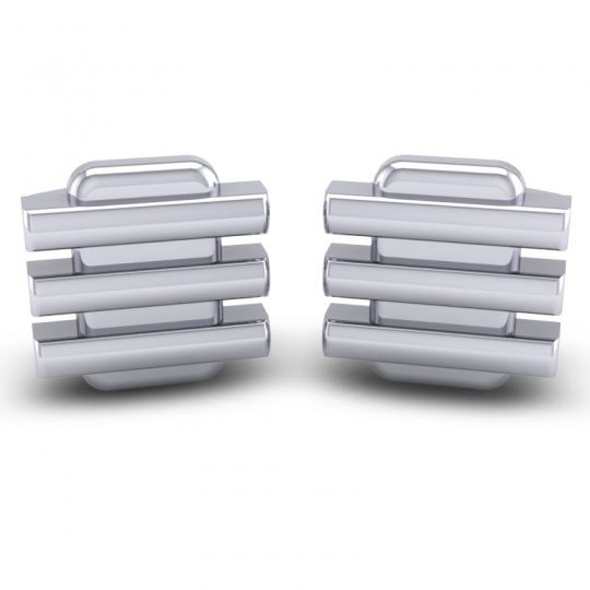 Majca White Gold Cufflinks