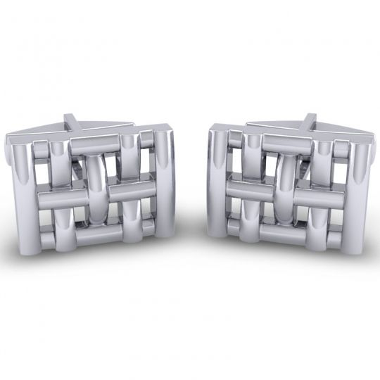 Tanva White Gold Cufflinks