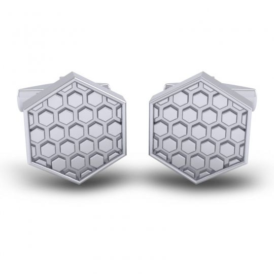 Madhukoza White Gold Cufflinks