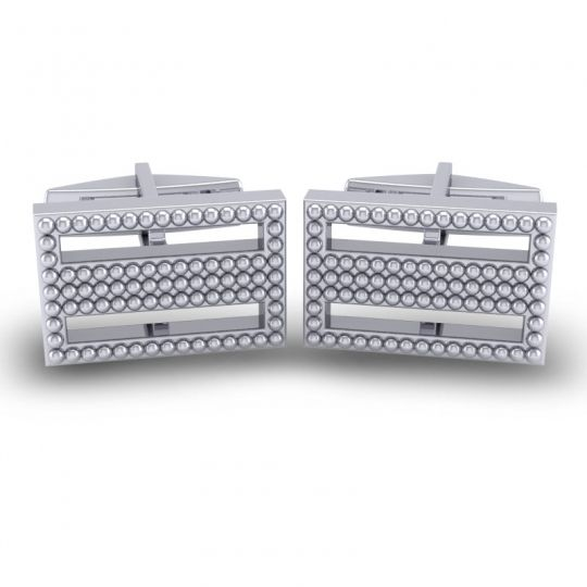 Sudi White Gold Cufflinks