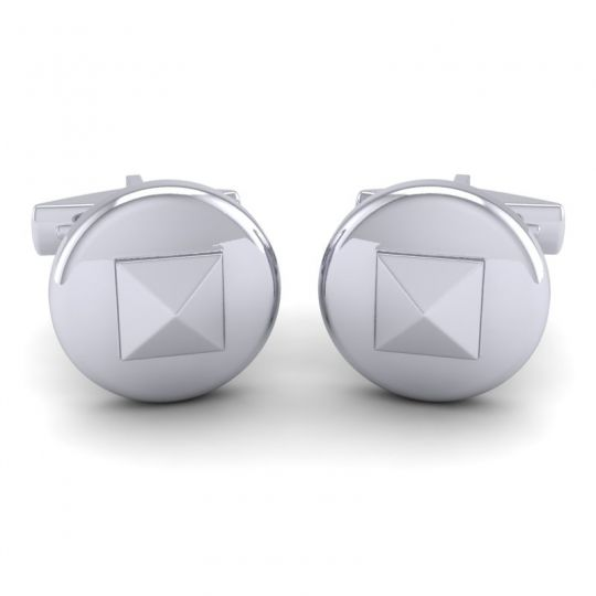 Suci White Gold Cufflinks